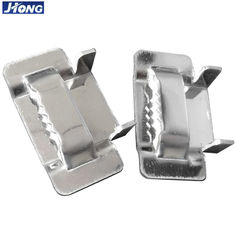 China Durable Stainless Steel Strapping Material Banding Strap Buckles With Ear Locking supplier