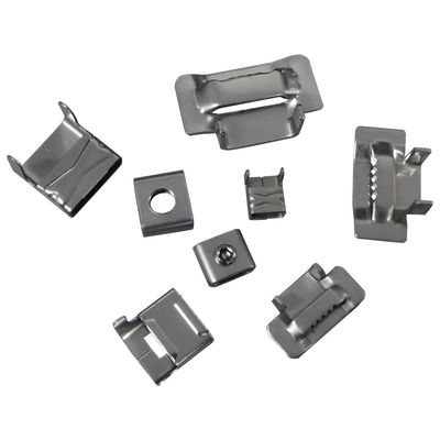 China 20mm 25mm Stainless Steel Banding Clips , Banding Strap Clips Customized Thickness supplier