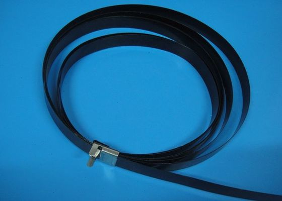 Polyester Coated Metal Wire Cable Ties , Electrical Tie Wraps For ...