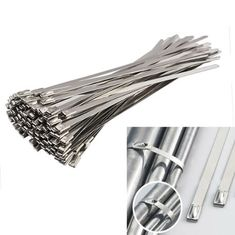 China Self Locking Coated Stainless Steel Cable Ties Fire Resistance 4.8x600mm supplier