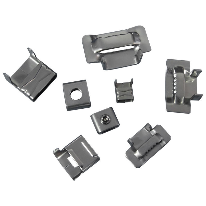 ce6a7643bb02 20mm 25mm Stainless Steel Banding Clips , Banding Strap Clips Customized  Thickness