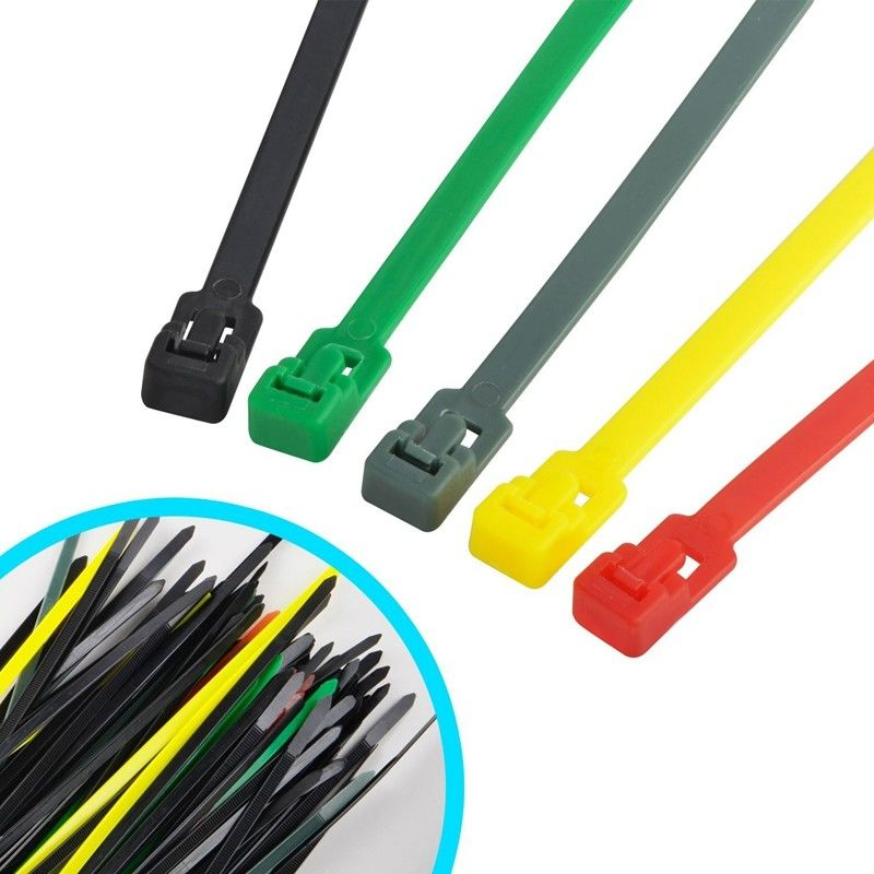 Multi Colored Commercial Electric Cable Ties , Weather Resistant ...