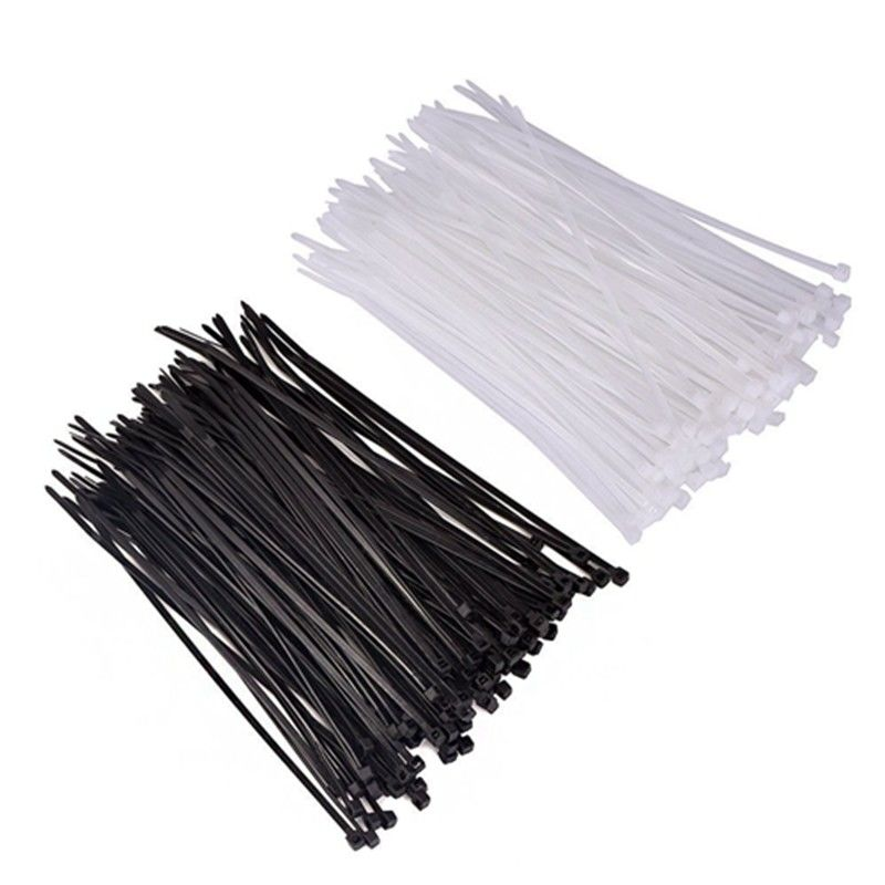 Quality 4.8mm Black Cable Ties ~ 300mm Length ~ Tie Wraps Zip Ties Fastener Bag