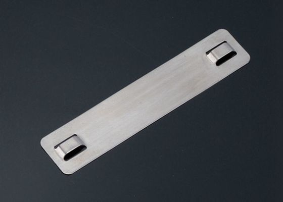 19.5mm Width SS316 Stainless Steel Cable Markers / Cable Name Tags 19.5 X 89 X 0.25mm