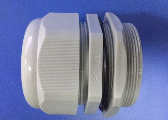 PG63 Gray IP68 Electrical Cable Gland , Nylon Cable Gland With ROHS Report